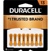 Duracell® - Batteries - Da13b8 Size 13 1.4v 8/pk Zinc Air Hearing Aid Battery - PK of 8