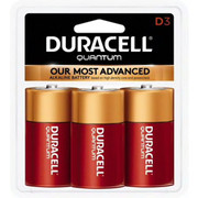 Duracell® - Batteries - Qu1300b3z D 1.5v 3/pk Quantum Alkaline Battery - PK of 3