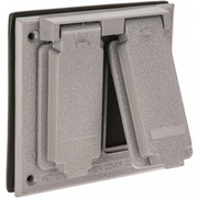 Cooper Crouse-Hinds - Electrical Outlet Box & Switch Box Acces - Electrical Outlet Box Aluminum Weatherproof Cover  TP7252