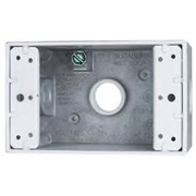 "Cooper Crouse-Hinds - Electrical Outlet Boxes & Switch Boxes - 1 Gang, (3) 1-2"" Knockouts, Aluminum Rectangle Outlet Box  - CA of 2"
