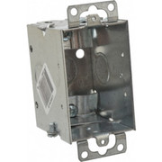 "Thomas & Betts - Electrical Outlet Boxes & Switch Boxes - 1 Gang, (3) 1/2"" Knockouts, Steel Rectangle Switch Box"