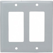 "HUBBELL® - Wall Plates - 2 Gang, 4-1/2"" l x 4.6"" w, Standard Outlet Wall Plate SS262"