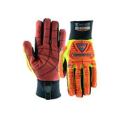 PIP® - Gloves - West Chester 2X Hi-Viz Yellow, Hi-Viz Orange, Hi-Viz Red, and Black R2 Evolution RigCat 2 Synthetic Leather Cut-Resistant Gloves with Neoprene Cuff, PVC Coated Palm, Kevlar® Reinforced Thumb Saddle, Reinforced Thermoplastic Fingertips