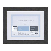 """Realspace® - Certificate Frame - Wyeth Document 11 x 14"""" Black Matted Frame - CA of 2"""