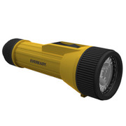 Energizer® - Batteries - Yellow Industrial Economy Flashlight with LED (Requires 2 D Batteries Included) - CA of 6
