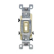 Leviton - Electrical - 3WAY Switch with Grounded Screw Ivory