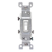 Leviton - Electrical Switch - 3 Way Grounded Switch White