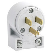 Leviton - Switch - 15A 125V PVC ANG Grounded Plug White