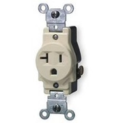 Leviton - Electrical Switch - 20A Single Receptacle 125V Ivory