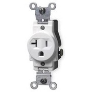 Leviton - Electrical Switch - 20A Single Receptacle 125V White
