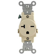 Leviton - Electrical Switch - 20A Single Receptacle 250V Ivory