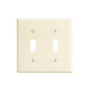 Leviton - Wall Plate - 2 Gang Switch Plate Ivory