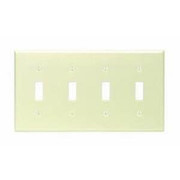 Leviton - Wall Plate - 4 Gang Switch Plate Ivory