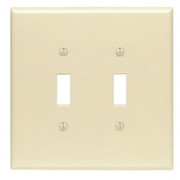 Leviton - Wall Plate - 2 Gang Toggle Switch Wall Plate Ivory