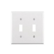 Leviton - Wall Plate - 2 Gang Switch Plate White