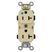 Leviton - Electrical Switch - 20A 125V Straight Blade Slim Receptacle Ivory