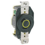 Leviton - Electrical Switch - 20A 125V Flush Mounting Lock Receptacle Black