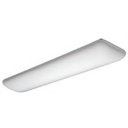"Lithonia Lighting - Fixture - 51-1-2"" 64w 2-Light Fluorescent Ceiling Light in White"