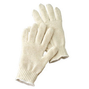Radnor® - Gloves - Large Natural Light Weight Polyester-Cotton Seamless String with Knit Wrist 12 Pr - CA of 50 PR