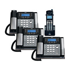 Telefield - Phones - Rca 4-Line Dect 6 0 Expandable Cordless/corded Phone  System with Digital Answering System - Phone, RCA, Bundle, 249
