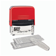 2000 Plus® - Stamper - Heavy-Duty Create-Your-Own Stamp Kit Black - CA of 4 KT