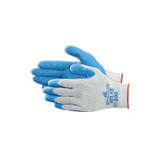 SHOWA® - Gloves - Best® Glove Size 8 Blue Atlas® Fit 300 Natural Rubber Palm Coated Work Gloves with Light Gray Cotton Polyester Lining, Knit Wrist and Rough Finish - PK of 12 PR