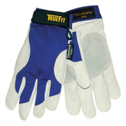 Thermasol® - Gloves - Tillman™ Medium Blue and Gray TrueFit™ Nylon and Spandex and Pigskin Thinsulate™ Lined Cold Weather Gloves