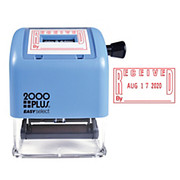 """2000 Plus® - Stamper - Self-Inking Easy Select Dater Stamp, Received, 1-7/8"""" x 1"""", Red - 2000 Plus Self-Inking Easy Select Dater Stamp - CA of 2"""