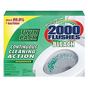 2000 Plus® - Bowl Cleaner - Chlorine Clear Automatic Bowl Cleaner Tablets 2000 Flushes, 3.5OZ 2 Pk