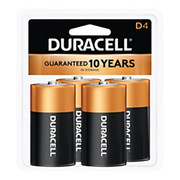Duracell® - Battery - Coppertop Alkaline D Batteries - Battery, Size D, Alkaline, 4/PK - CA of 12/pk