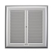 "Broan® - Exhaust Fan Grille - 10-1/4"" Metal Grille Only for Bath Fan"
