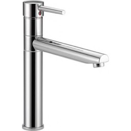 Delta® Faucet - Kitchen Faucet - 1.8 Gpm Single Lever Handle Kitchen Sink  Faucet in Polished Chrome