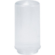 "Crown Plastics - Fixture Parts - 4"" Threaded Ribbed Acrylic Cylinder Shade in Clear"