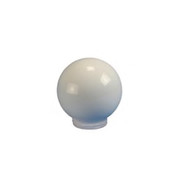 """Crown Plastics - Fixture Parts - 6"""" Flush Fitter Threaded Acrylic Shade Globe in White"""