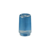 "Crown Plastics - Fixture Parts - 3-1/2"" Threaded Ribbed Acrylic Cylinder Shade in Clear"