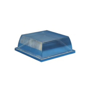 "Crown Plastics - Fixture Parts - 10-63/100"" Acrylic Security Enclosure in Clear"