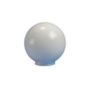 "Crown Plastics - Fixture Parts - 8"" Necked Acrylic Globe Shade in White"
