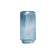 """Crown Plastics - Fixture Parts - 4"""" Lipped Ribbed Acrylic Cylinder Shade in Clear - CA of 2"""
