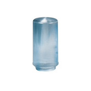 """Crown Plastics - Fixture Parts - 4"""" Lipped Ribbed Acrylic Cylinder Shade in Clear"""