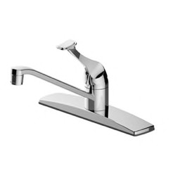PROFLO® - Kitchen Faucet - 1.8 Gpm 3-Hole Kitchen Sink Faucet with  Single-Handle in Polished Chrome