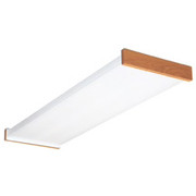 Lithonia Lighting - Lighting - 32w Ceiling Mount and Flush Mount End Wraparound Fluorescent Lamp Fixture in Oak
