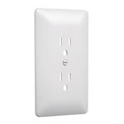 HUBBELL® - Receptacle Cover - 1-Gang Duplex Wall Plate in White 5-Pack - CA of 2