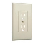 HUBBELL® - Receptacle Cover - Wall Plate in Ivory 5/Pk - CA of 2