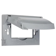 HUBBELL® - Receptacle Cover - Die Cast Metal Horizontal Cover in Grey - PK of 4