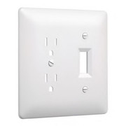 HUBBELL® - Receptacle Cover - Wall Plate Switch in White
