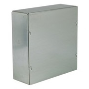 "Wiegmann® - Junction Box - 6-1/8 x 6-1/8 x 4-3/16 "" Pre-Galvanized Steel and Plastic Screw Cover Pull Box Enclosure - Beige"