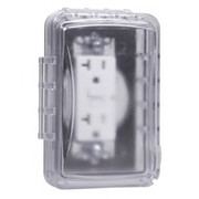 HUBBELL® - Receptacle Cover - 1-Gang Plastic Flat Cover in Clear - CA of 3