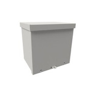 "Wiegmann® - Junction Box - 4-1/8 x 4-1/8 x 4-3/16"" Carbon Steel, Pre-Galvanized Steel and Plastic Screw Cover Enclosure - Beige"