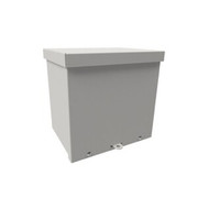 "Wiegmann® - Junction Box - 12-1-8 x 12-1-8 x 10-3-16"" Carbon Steel, Pre-Galvanized Steel and Plastic Screw Cover Enclosure - Beige"