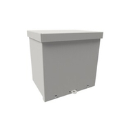"Wiegmann® - Junction Box - 12-1/8 x 12-1/8 x 10-3/16"" Carbon Steel, Pre-Galvanized Steel and Plastic Screw Cover Enclosure - Beige"